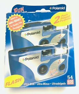 Pack Of 2 Polaroid Disposable Camera One Use Flash 35mm Film NIB sealed