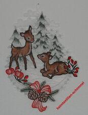 PLAUENER SPITZE Fensterbild REHE Fensterbilder REHKITZ Weihnachten WINTER Wald