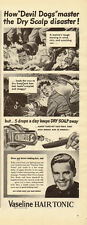 1940's Vintage ad for Vaseline HAIR TONIC~WWII era/Soldeirs (101613)