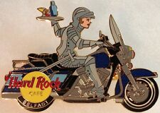 Hard Rock Cafe BELFAST 2002 Knight Rider Medieval Girl on Motorcycle PIN #15038