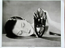 Man Ray Poster Reprint Titled Noire  Et Blanche  Woman With A Black Mask 14x11