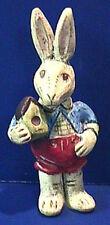 Salamander Poliwoggs Miniature Figurine BOY BUNNY WITH BIRDHOUSE Retired