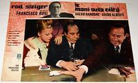 Francesco Rosi Rod Steiger LE MANI SULLA CITTA fotobusta originale 1963 #3
