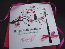 Handmade Birthday Card 16th 21st 30th 40th 50th 60th Sister Mum Mother Nan Wife
