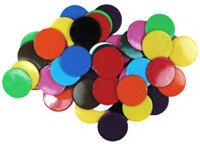Pack of 50 x 22mm Opaque Plastic Counters Numeracy Teaching Resource D011
