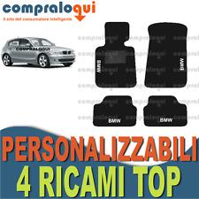 TAPPETI PER BMW SERIE 1 E87 TAPPETINI AUTO SU MISURA + 4 DECORI TOP RICAMATI