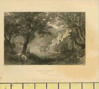 1836 ANTIQUE GEORGIAN PRINT ~ LOCH KATRINE ~ scene of LADY OF THE LAKE  SCOTLAND