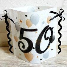 Tischdeko-Windlicht aus Servietten- Birthday- 50.GEBURTSTAG- Partydeko