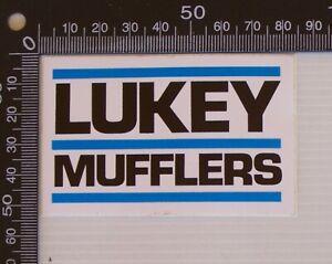 VINTAGE LUKEY MUFFLERS RACING SPONSOR CAR ADVERTISING PROMO STICKER DECAL