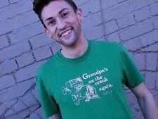 GRANDPA ON CRANK Green Paul Frank 100% Cotton Size S T-Shirt
