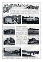 Bauunternehmen Liebold Holzminden XL Reklame 1913 Werbung Delecke Fuldabrücke
