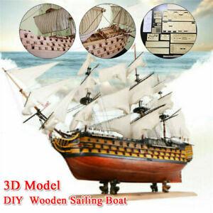 Victory HMS Wooden Sailing Boat Ship Model DIY Assembly Kit Gift Hoem Decor sell