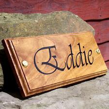 OAK Horse Name Plate Stable Door Plaque (Vivaldi Font) Custom Made