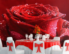 Poster géant papier peint rose rouge de 4m/2m80 de hauteur
