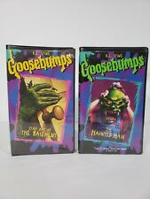 Goosebumps Vhs Tapes Clamshell Lot of 2 Haunted Mask Stay out of the Basement 90