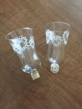 Set / 2 Hearts & Ribbons Embossed Votive Cups Plus Grommets Homco Home Interior