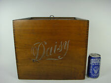Antique Vintage Daisy Icebox Cooler Chest Cheese Dairy Advertisement Box Wooden
