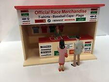 Escala 1:32 edificio Cabaña de mercancía en Crema/Rojo Ninco Scalextric Carrera Scx