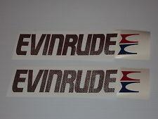 2 EVINRUDE Carbon Fiber Marine Vinyl Evinrude outboard decals