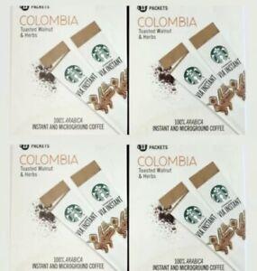 Starbucks Via Colombia Instant Medium Roast Coffee 52 Packets Best By 3/2021