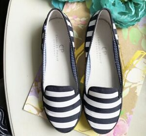 Charles Philip Shanghai Striped Shoes Loafers Size 7.5 Women