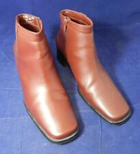Expressions Reddish Brown Zip Up Ankle Boots Women's Size 9 1/2