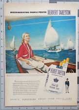1952 Tareyton Cigarette Diane Bultinck Sailboats Nautical Decor Vintage Print Ad