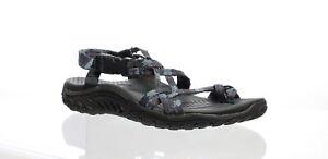Skechers Womens Reggae Jamrock Charcoal Sport Sandals Size 6 (615137)