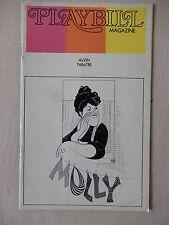 November 1973 - Alvin Theatre Playbill - Molly - Kay Ballard - Lee Wallace