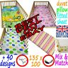COT BEDDING set duvet cover 135x100 FITTED SHEET 140x70 pillow case COT BED baby