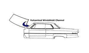 1963 1964 1965 1966 Dodge Dart Windshield Seal (except convertible)