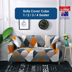 Sofa Cover Cube Couch Covers 1 2 3 4 Seater Lounge Slipcover Protector