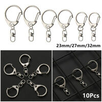 Steel Outdoor Split Ring  Metal Swivel Trigger Key Chain Ring Snap Hook