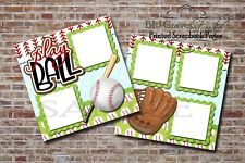 Baseball Play Ball Sports 2 PRINTED Premade Scrapbook Pages BLJgraves 75