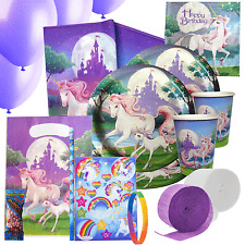 Fantasy Unicorn Party Kit 3 For 8 to 16 Guests | Filled Party Bags Decorations