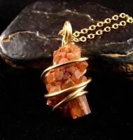 Aragonite Star Crystal Pendant Bronze #15