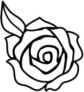 Rose  Flower outline STICKER Car Bumper Van Window Wall Laptop JDM VINYL DECALS