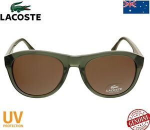 LACOSTE SUNGLASSES OLIVE GREEN / BROWN L746S 315 ==BRAND NEW==