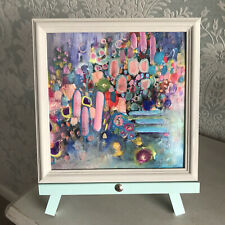 More details for semi abstract landscape garden painting original