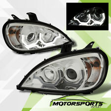 [Plank Style LED DRL] For 1996-2015 Freightliner Columbia Chrome Headlights Pair