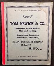 C1930'S TOM NEWICK SALES CATALOGUE HARDWARE MERCHANTS PRICE LIST BRISTOL