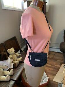 Baggallini Crossbody Bag Organizer Purse Travel Cardholder Zip black Nylon