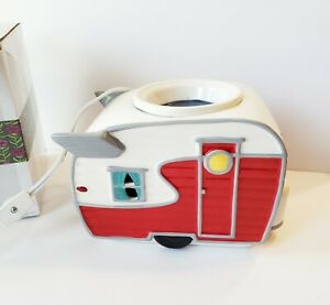 Scentsy Road Less Traveled Warmer Red Camper Retired - Box Included