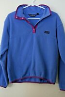 Patagonia Vintage Womens Snap T Fleece Pullover Purple SZ 10 GUC- Made in USA