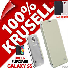 New Krusell Boden Flip Case for Samsung Galaxy S5 Cover Folio PU Leather White
