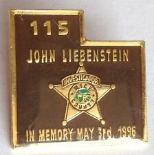 John Liebenstein Rice County Police Investigator 1996 Tribute Pin Badge Rare(D5)