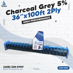 """Window Tint Charcoal Grey 5% Protec 36""""x100ft High Performance 2Ply"""