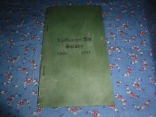 Booklet LaGrange Aid Society 1896  1921  Founders Officers Members List