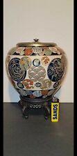 Antique Japanese Edo period Satsuma jar incense burner by Tawara Koseki