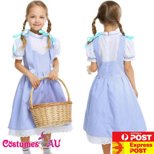 Girls Dorothy The Wizard of Oz Costume Book Week Party Kids Child Fancy Dress